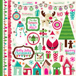 Echo Park - Holly Jolly Christmas Collection - 12 x 12 Cardstock Stickers - Elements