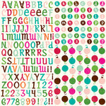Echo Park - Holly Jolly Christmas Collection - 12 x 12 Cardstock Stickers - Alphabet