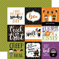 Echo Park - Halloween Magic Collection - 12 x 12 Double Sided Paper - 4 x 4 Journaling Cards
