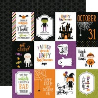 Echo Park - Halloween Magic Collection - 12 x 12 Double Sided Paper - 4 x 3 Journaling Cards