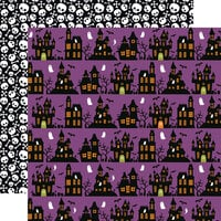 Echo Park - Halloween Magic Collection - 12 x 12 Double Sided Paper - Halloween Night