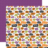 Echo Park - Halloween Magic Collection - 12 x 12 Double Sided Paper - Spooky Scary