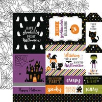Echo Park - Halloween Magic Collection - 12 x 12 Double Sided Paper - Multi Journaling Cards