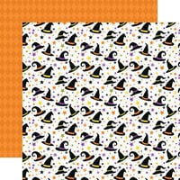 Echo Park - Halloween Magic Collection - 12 x 12 Double Sided Paper - Haunted Hats
