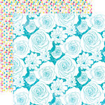 Echo Park - Here and Now Collection - 12 x 12 Double Sided Paper - Flower Buds