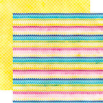 Echo Park - Here and Now Collection - 12 x 12 Double Sided Paper - Rainbow Chevrons