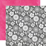 Echo Park - Here and Now Collection - 12 x 12 Double Sided Paper - Chalkboard Lace