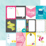 Echo Park - Here and Now Collection - 12 x 12 Double Sided Paper - 3 x 4 Journaling Cards