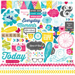Echo Park - Here and Now Collection - 12 x 12 Cardstock Stickers - Elements