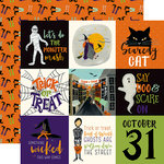 Echo Park - Hocus Pocus Collection - Halloween - 12 x 12 Double Sided Paper - 4 x 4 Journaling Cards