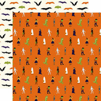 Echo Park - Hocus Pocus Collection - Halloween - 12 x 12 Double Sided Paper - Costume Party