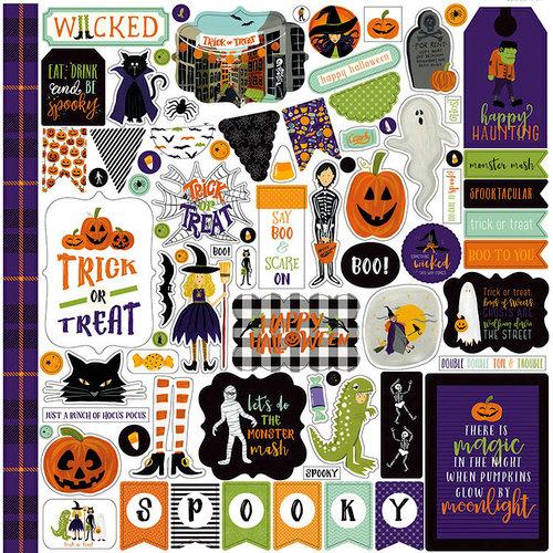 Echo Park - Hocus Pocus Collection - Halloween - 12 x 12 Cardstock Stickers - Elements