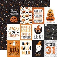 Echo Park - Halloween Party Collection - 12 x 12 Double Sided Paper - 4 x 3 Journaling Cards