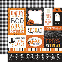 Echo Park - Halloween Party Collection - 12 x 12 Double Sided Paper - Multi Journaling Cards