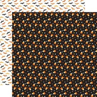 Echo Park - Halloween Party Collection - 12 x 12 Double Sided Paper - Candy Corn Craze