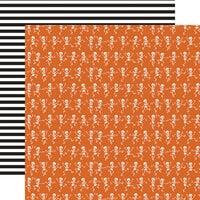 Echo Park - Halloween Party Collection - 12 x 12 Double Sided Paper - Bone Chilling