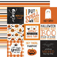 Echo Park - Halloween Party Collection - 12 x 12 Double Sided Paper - 4 x 4 Journaling Cards