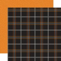 Echo Park - Halloween Party Collection - 12 x 12 Double Sided Paper - Potion Plaid