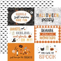 Echo Park - Halloween Party Collection - 12 x 12 Double Sided Paper - 6 x 4 Journaling Cards