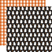 Echo Park - Halloween Party Collection - 12 x 12 Double Sided Paper - Hey Boo