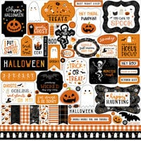 Echo Park - Halloween Party Collection - 12 x 12 Cardstock Stickers - Elements