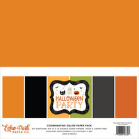 Echo Park - Halloween Party Collection - 12 x 12 Paper Pack - Solids