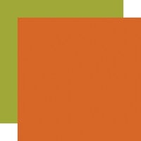 Echo Park - Halloween Party Collection - 12 x 12 Double Sided Paper - Dark Orange