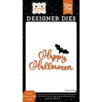 Echo Park - Halloween Party Collection - Designer Dies - Happy Halloween and Bat