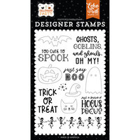 Echo Park - Halloween Party Collection - Clear Photopolymer Stamps - Just Say Boo