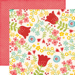 Echo Park - Happy Summer Collection - 12 x 12 Double Sided Paper - Happy Flowers