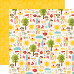 Echo Park - Happy Summer Collection - 12 x 12 Double Sided Paper - Sunny Day