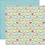 Echo Park - Happy Summer Collection - 12 x 12 Double Sided Paper - Flocking Feathers