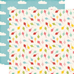 Echo Park - Happy Summer Collection - 12 x 12 Double Sided Paper - Carefree Kites