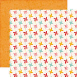 Echo Park - Happy Summer Collection - 12 x 12 Double Sided Paper - Pinwheels