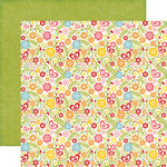 Echo Park - Happy Summer Collection - 12 x 12 Double Sided Paper - Summer Blossoms