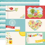 Echo Park - Happy Summer Collection - 12 x 12 Double Sided Paper - 4 x 6 Journaling Cards