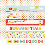 Echo Park - Happy Summer Collection - 12 x 12 Double Sided Paper - Border Strips