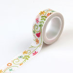 Echo Park - Happy Summer Collection - Decorative Tape - Ivy Floral