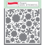 Echo Park - Happy Summer Collection - 6 x 6 Stencil - Summer Floral