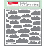 Echo Park - Happy Summer Collection - 6 x 6 Stencil - Clouds