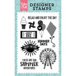 Echo Park - Happy Summer Collection - Clear Acrylic Stamps - Summer Adventures