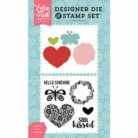 Echo Park - Happy Summer Collection - Designer Die and Clear Acrylic Stamp Set - Sun Kissed