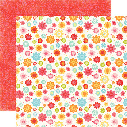 Echo Park - Hello Summer Collection - 12 x 12 Double Sided Paper - Little Flowers