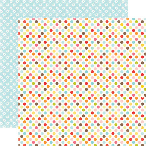 Echo Park - Hello Summer Collection - 12 x 12 Double Sided Paper - Dots Everywhere