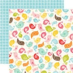 Echo Park - Hello Summer Collection - 12 x 12 Double Sided Paper - For the Birds