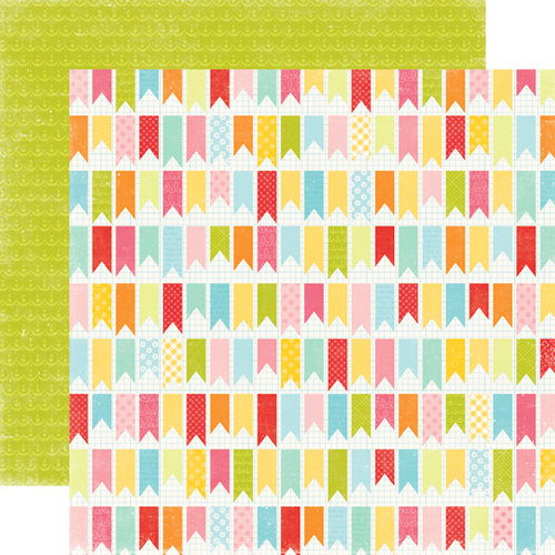 Echo Park - Hello Summer Collection - 12 x 12 Double Sided Paper - You've Been Flagged