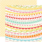 Echo Park - Hello Summer Collection - 12 x 12 Double Sided Paper - Banners