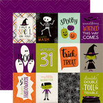 Echo Park - Halloween Town Collection - 12 x 12 Double Sided Paper - 3 x 4 Journaling Cards