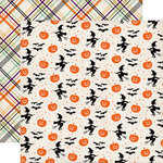 Echo Park - Halloween Town Collection - 12 x 12 Double Sided Paper - Bewitching Pumpkins