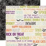Echo Park - Halloween Town Collection - 12 x 12 Double Sided Paper - Trick or Treat